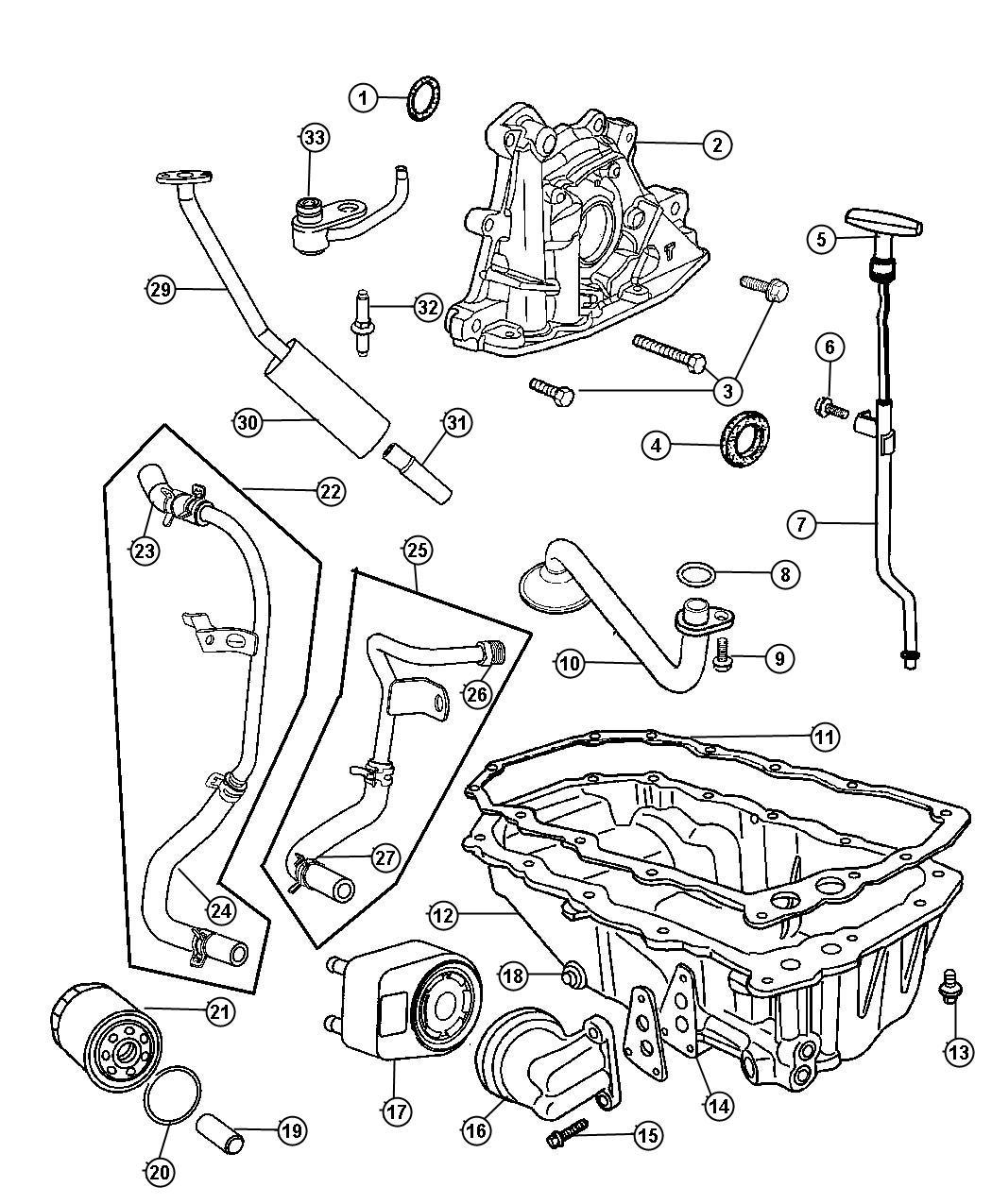 Chrysler 300 Pump Engine Oil Pconsists