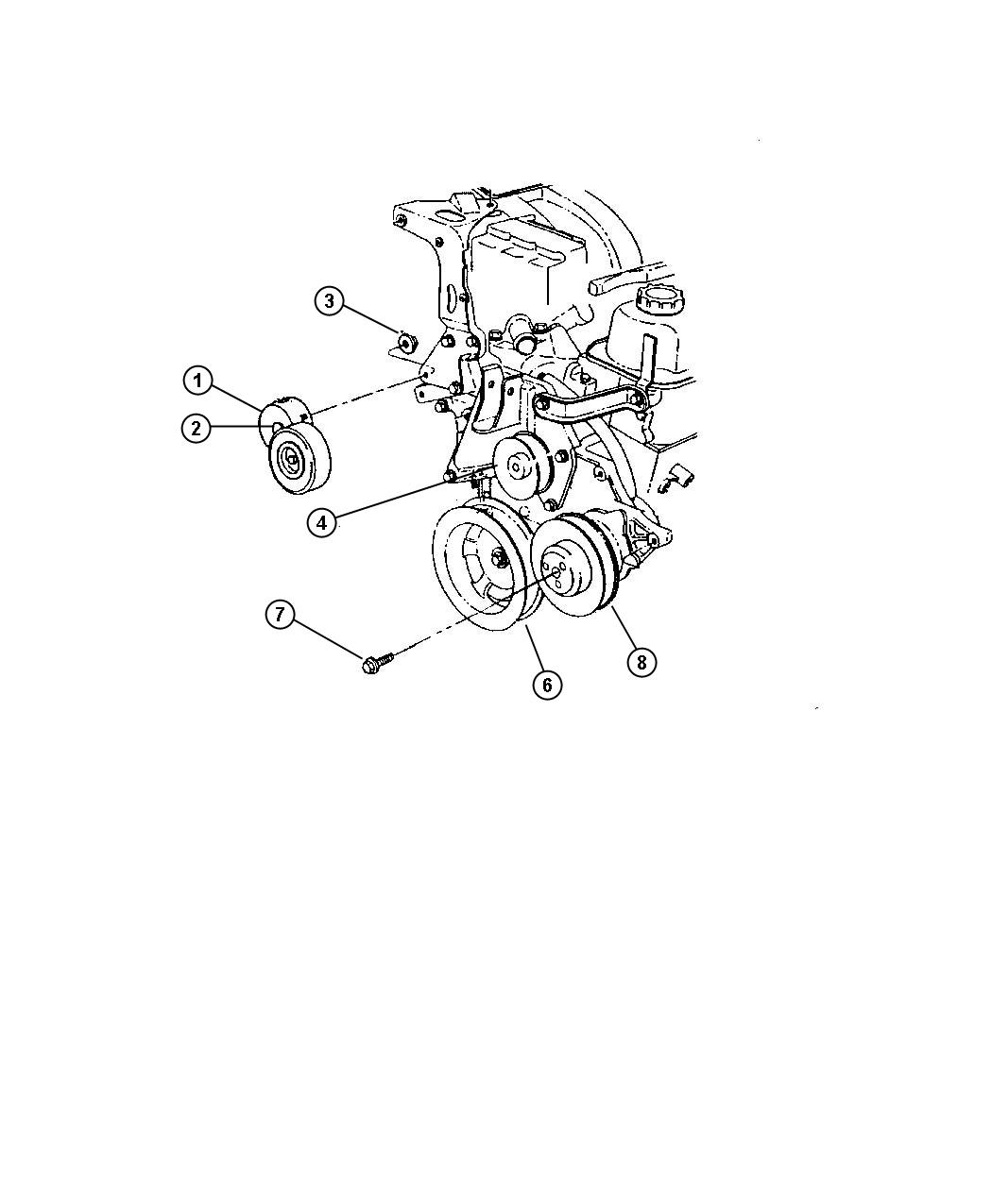 Chrysler Town Amp Country Shield Accessory Drive 3 3l V6
