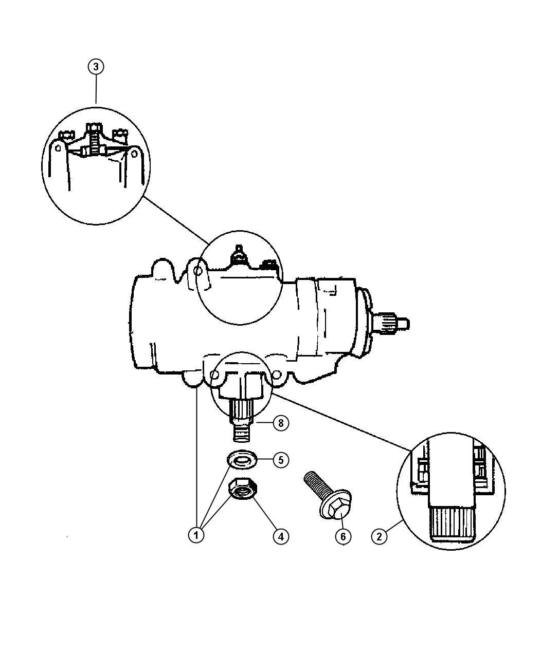Dodge Avenger Gear Power Steering Kit Shaft Pinion