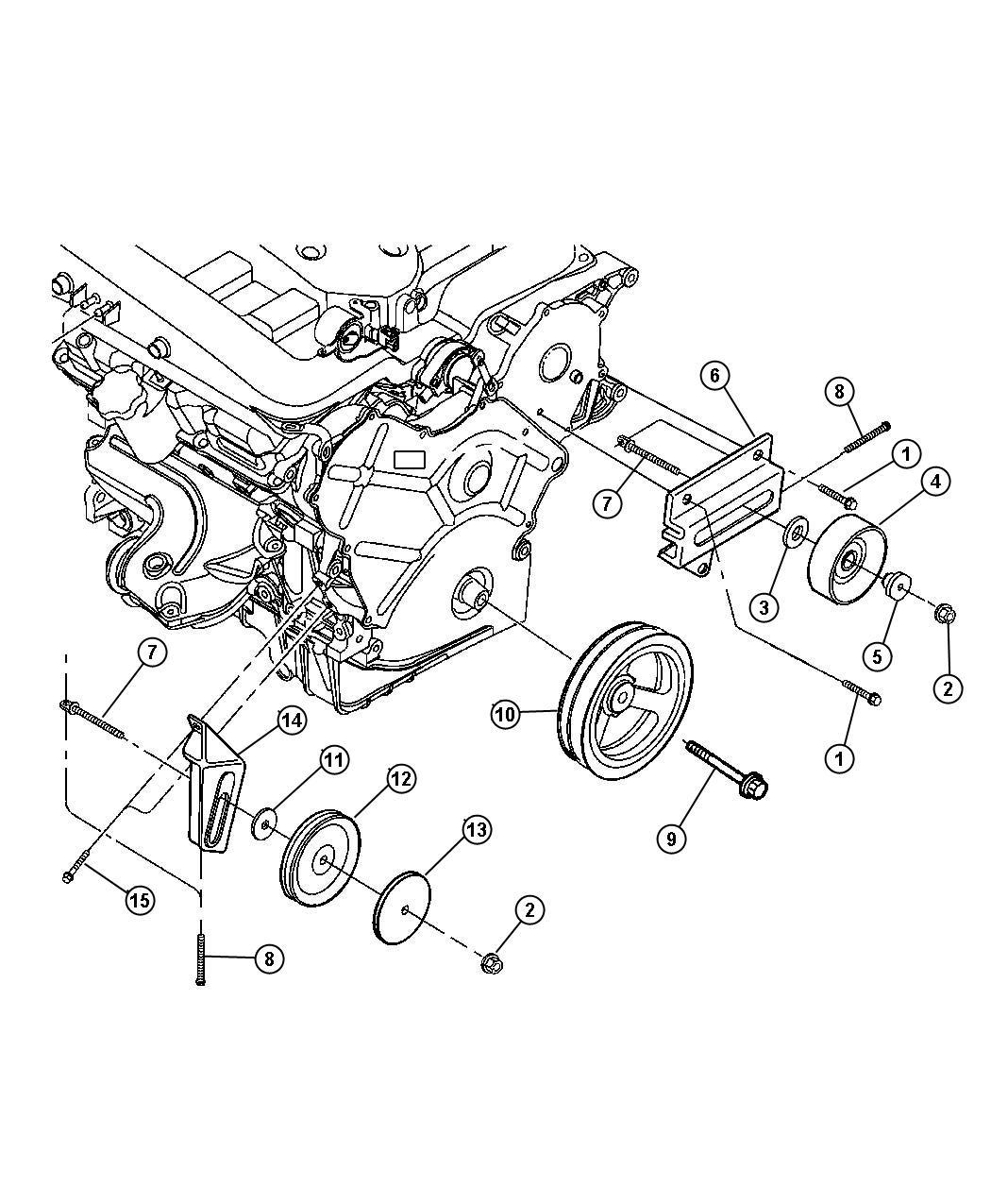 Chrysler 300 Pulley Idler A C Engine Cooling