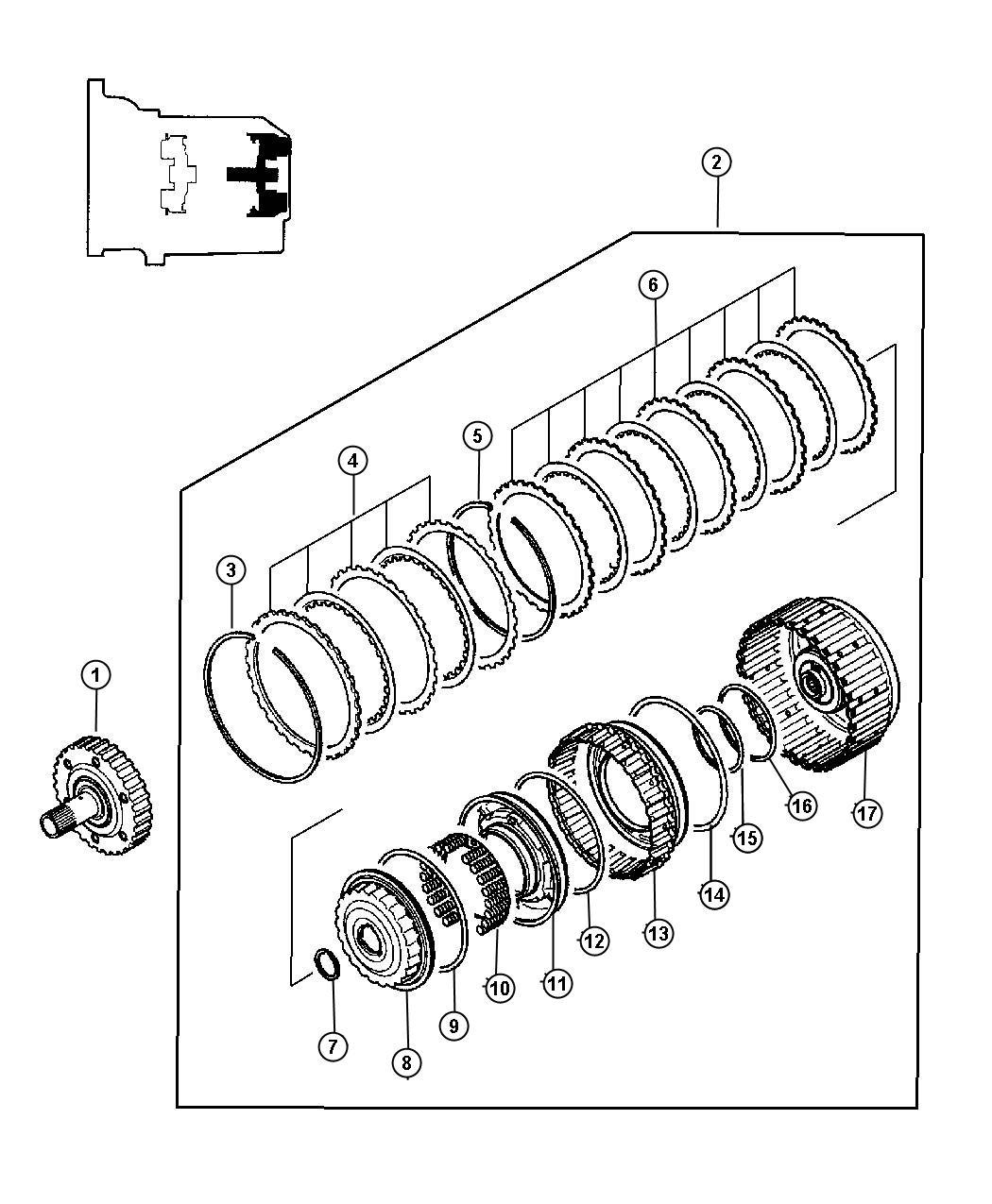 Chrysler Sebring Snap Ring 2 8 Mm 2 8 Engine Clutch