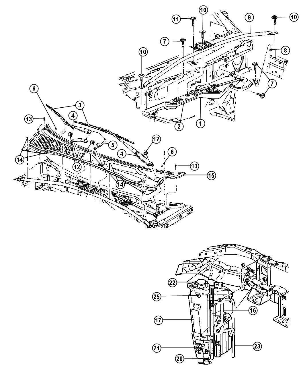 Dodge Durango Panel Cowl Body Wiper Windshield