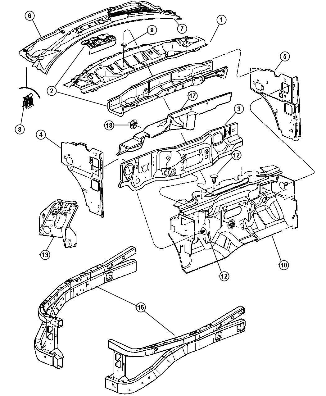 Dodge Durango Panel Plenum Cowl