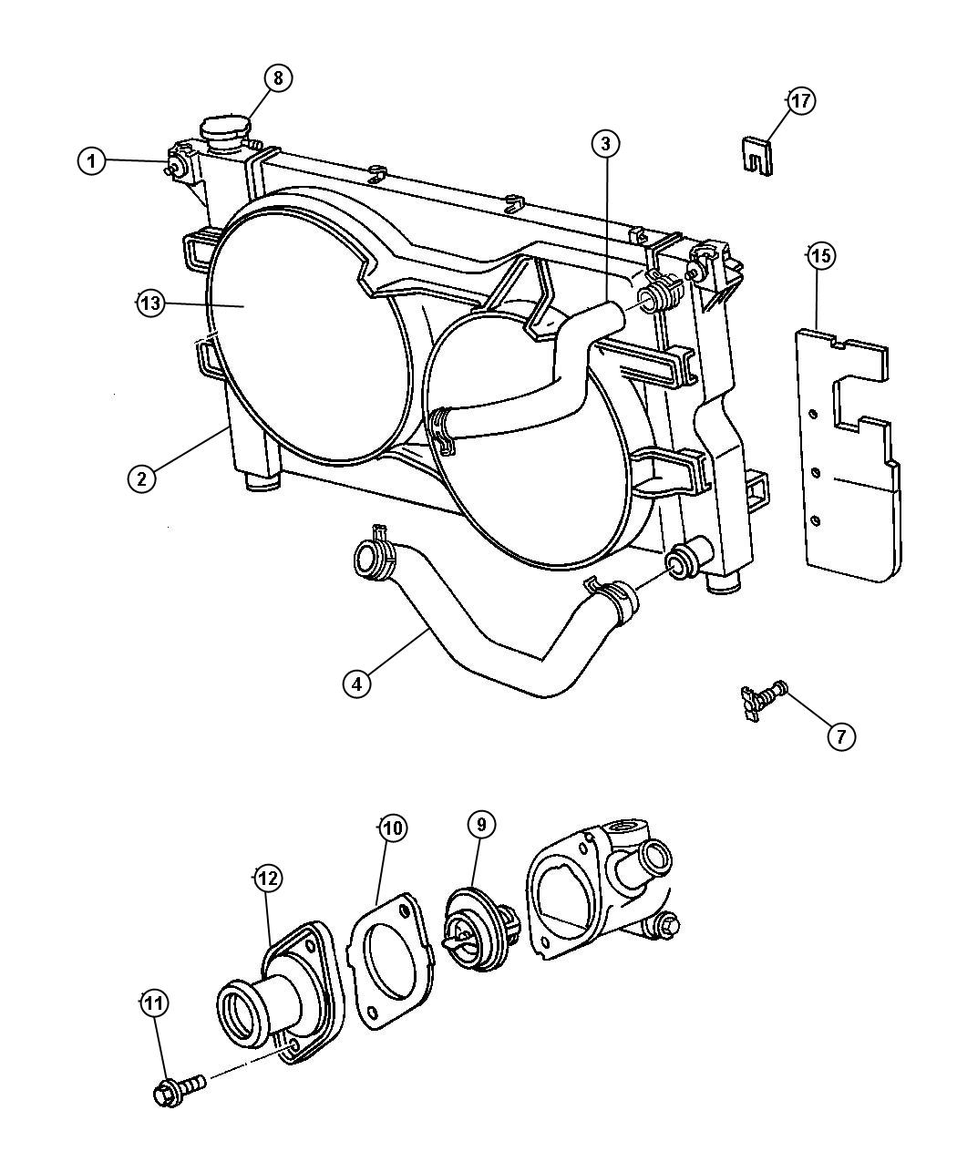 Chrysler Town Amp Country Gasket Thermostat