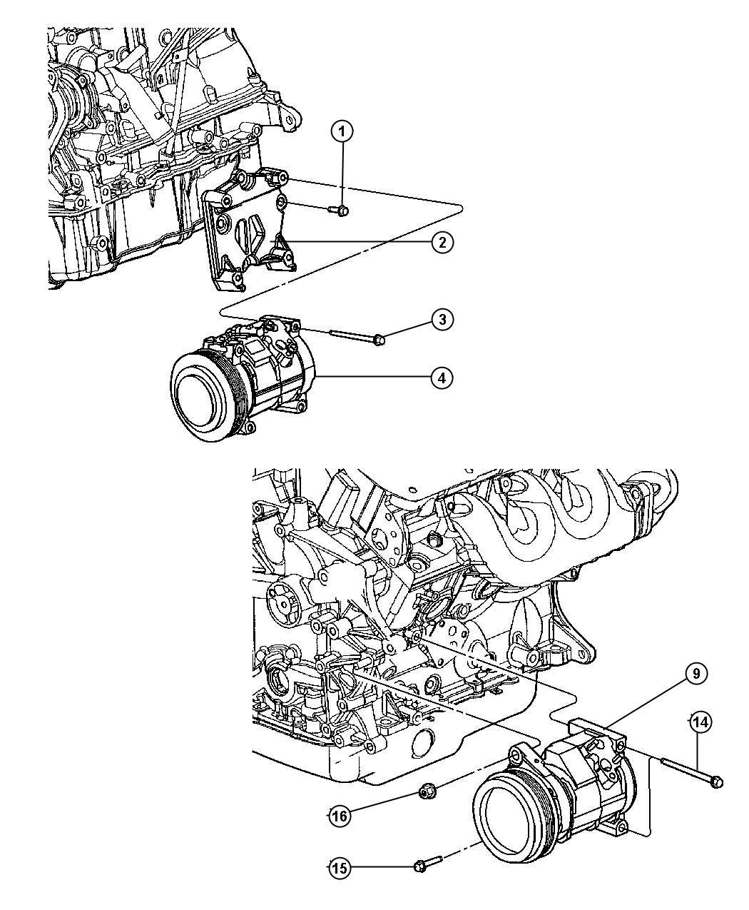 Dodge Caliber Compressor Air Conditioningsel Engine