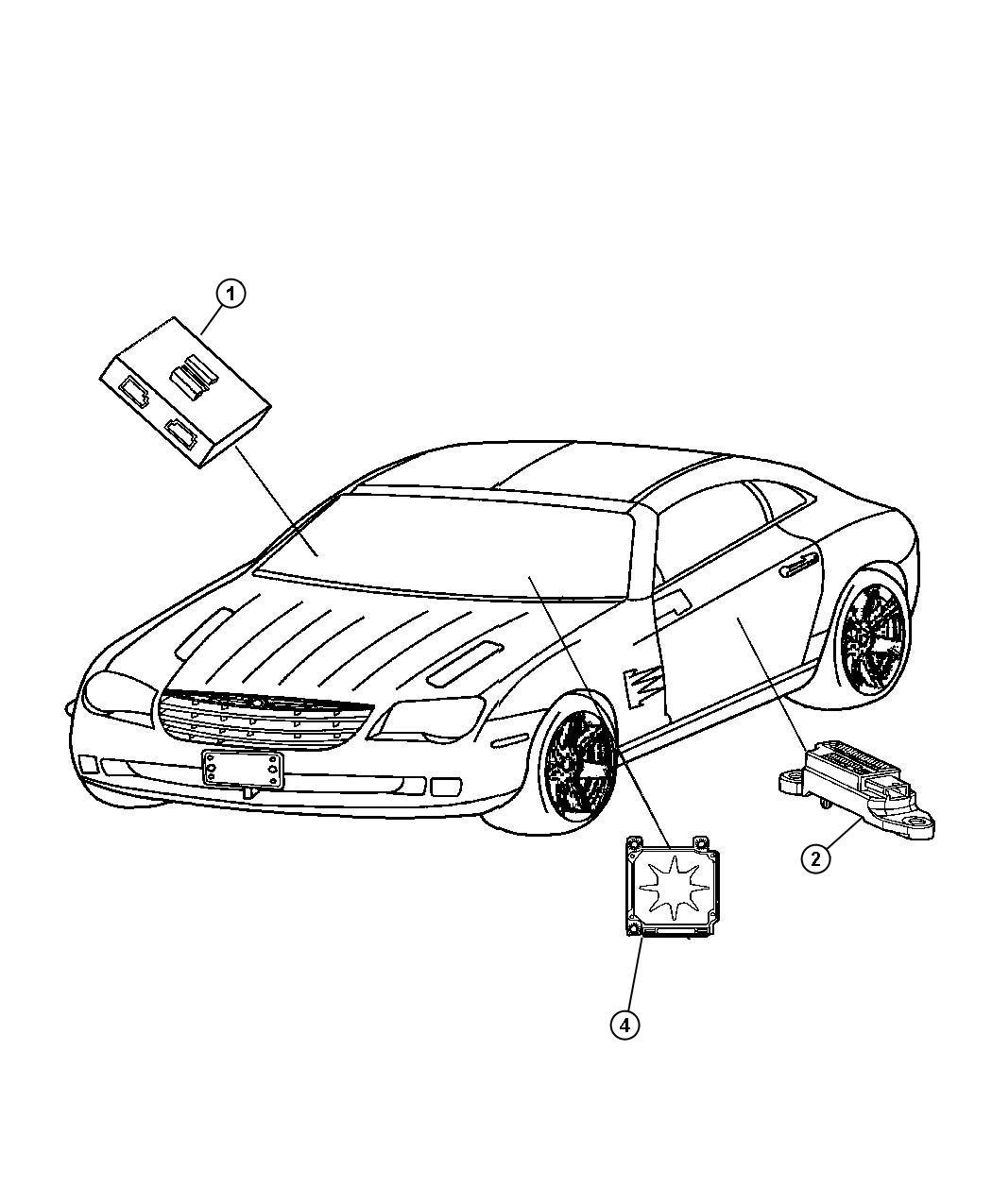 Chrysler Crossfire Module Air Bag Control Passenger