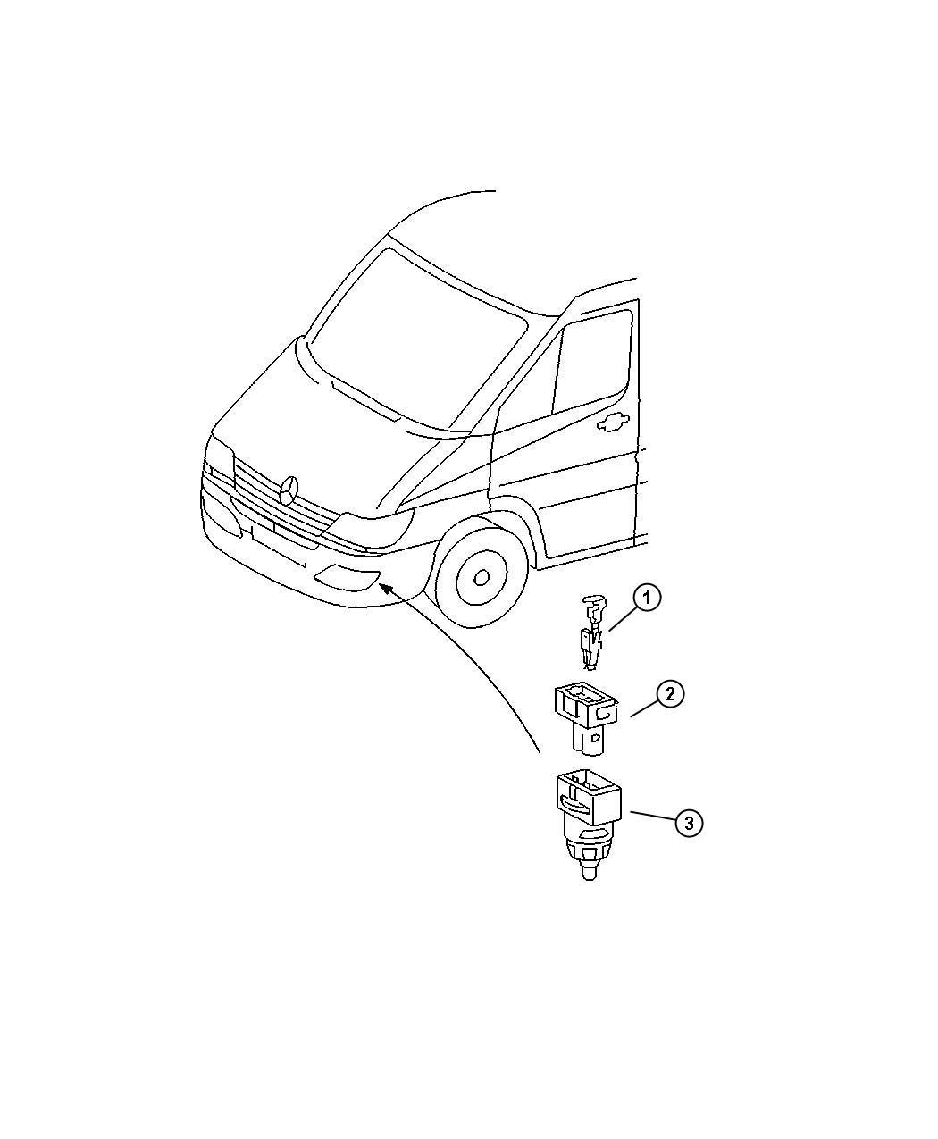Dodge Sprinter Sensor Ambient Temperature Auto