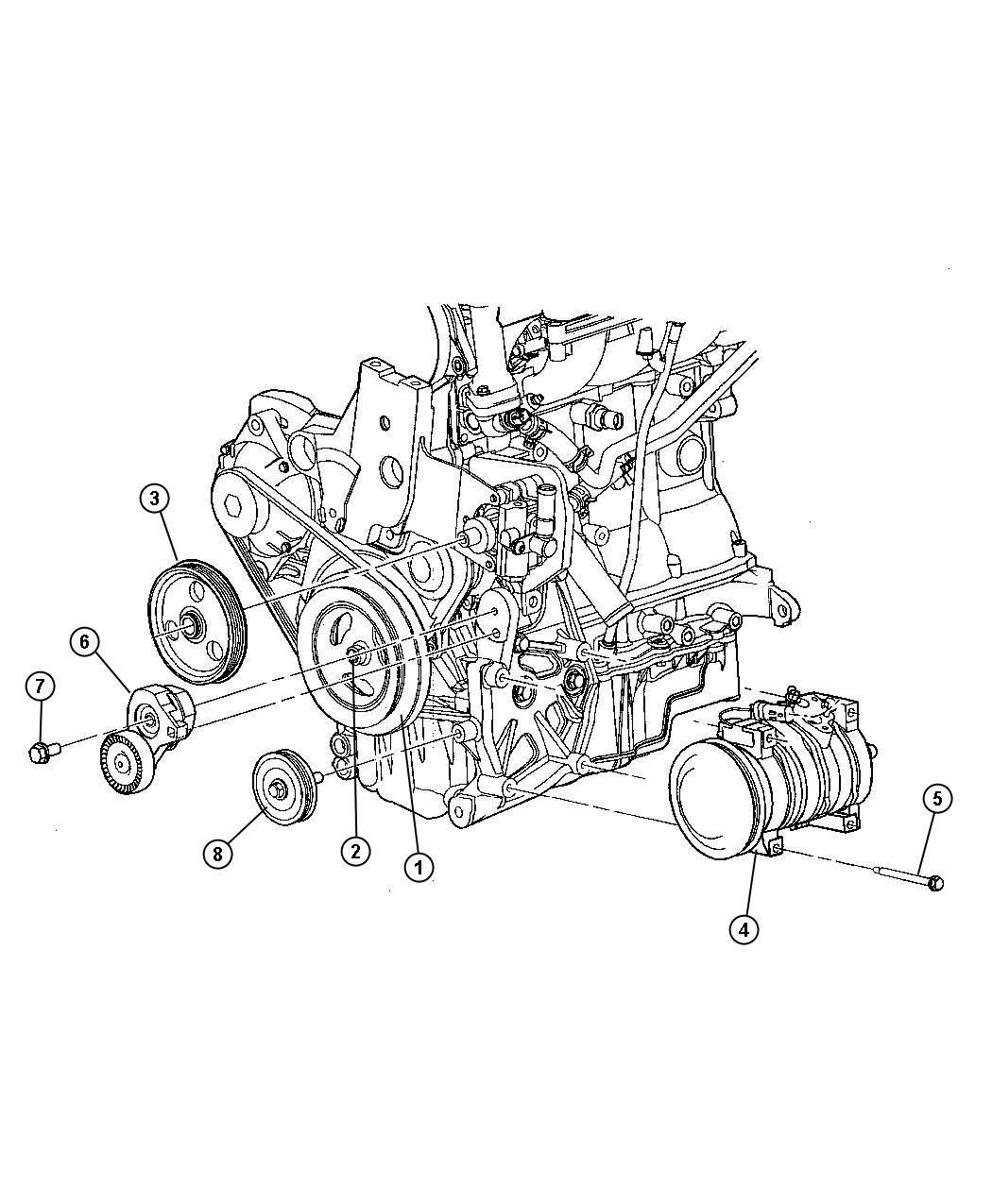 Dodge Grand Caravan Pulley Power Steering Pump