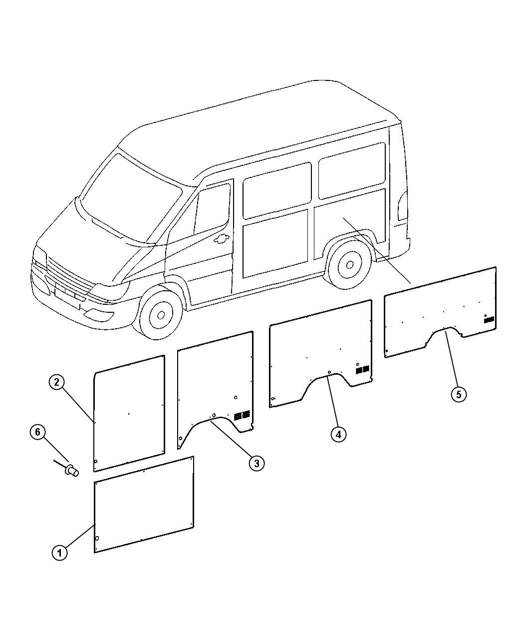 Dodge Sprinter Panel Quarter Trim Used For Right And Left From R