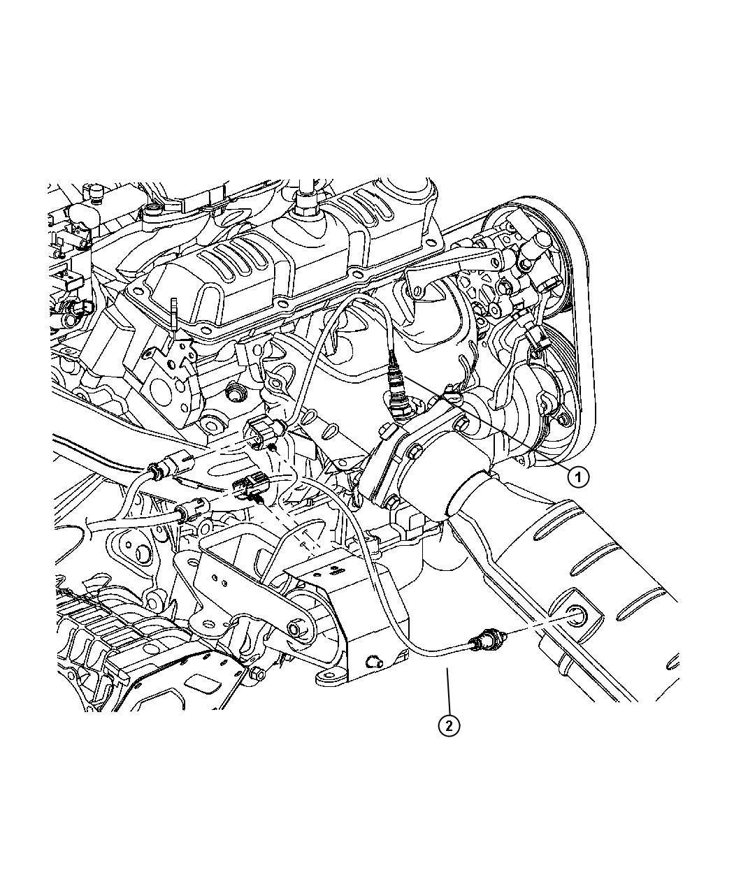 Dodge Caravan Sensor Oxygen Before Catalyst Mid Model
