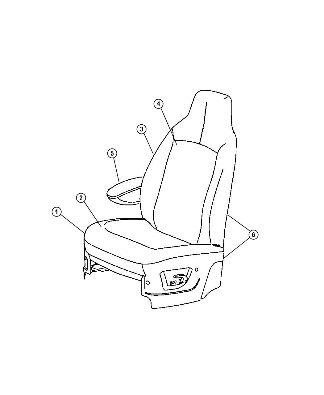 Dodge Nitro Armrest Left Rear Seat Seat Trim J8 Color Ds