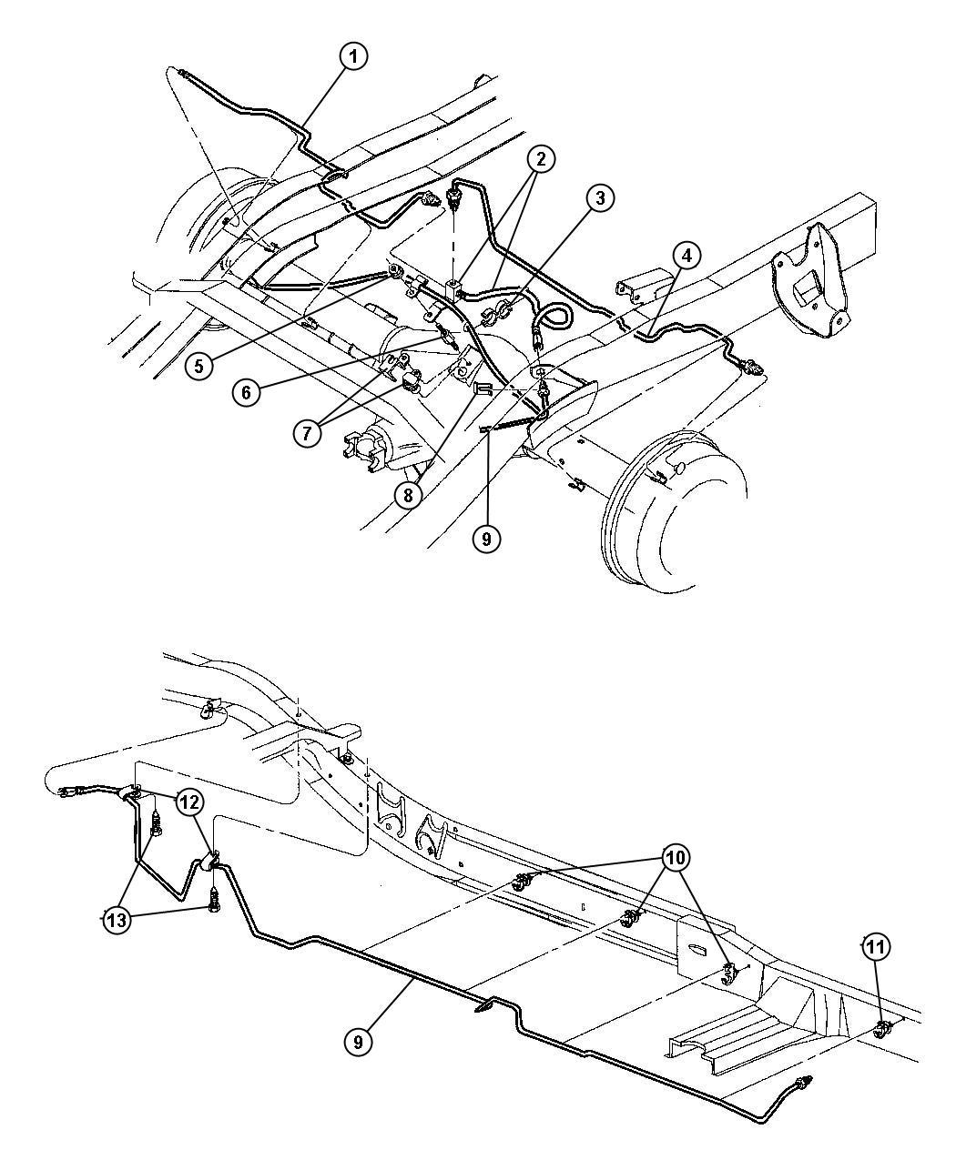 Dodge Dakota Hose Brake Rear With Tee Maintenance