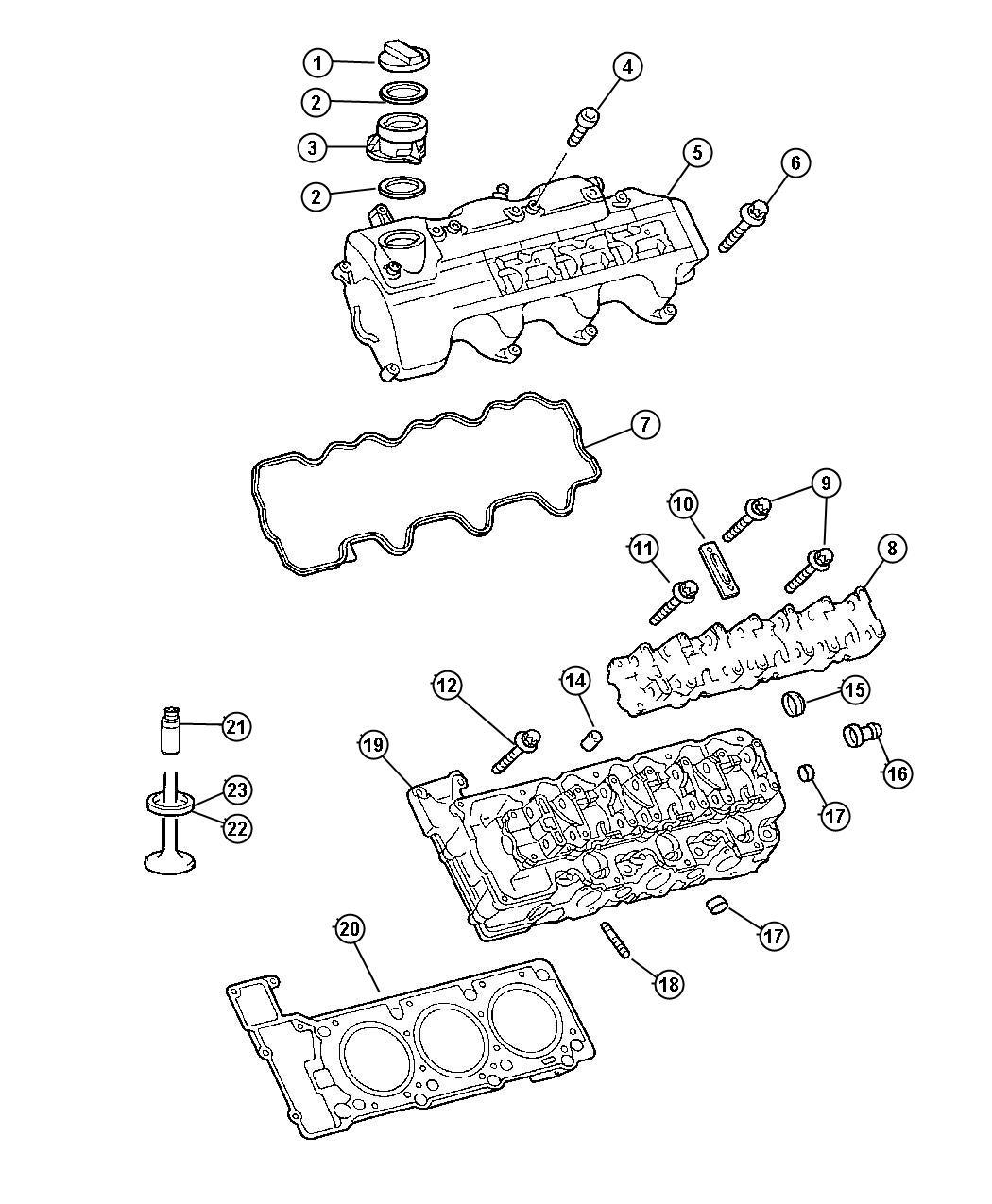 Dodge Viper Cap Oil Filler Cylinder Head Engine