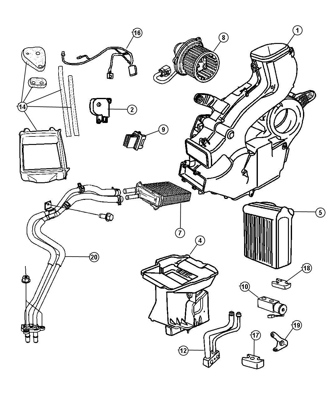 Dodge Ram Hose Heater Control Zone Temp