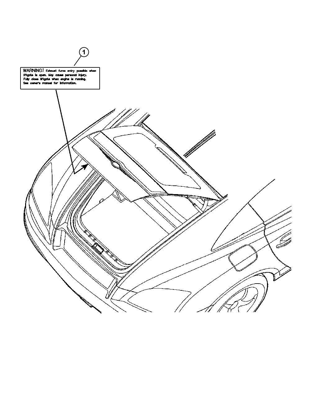 Dodge Ram Label Exhaust Warning