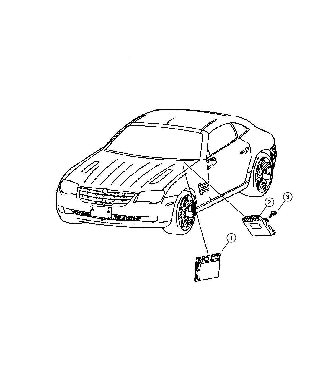 Chrysler Crossfire Module Powertrain Control Engine