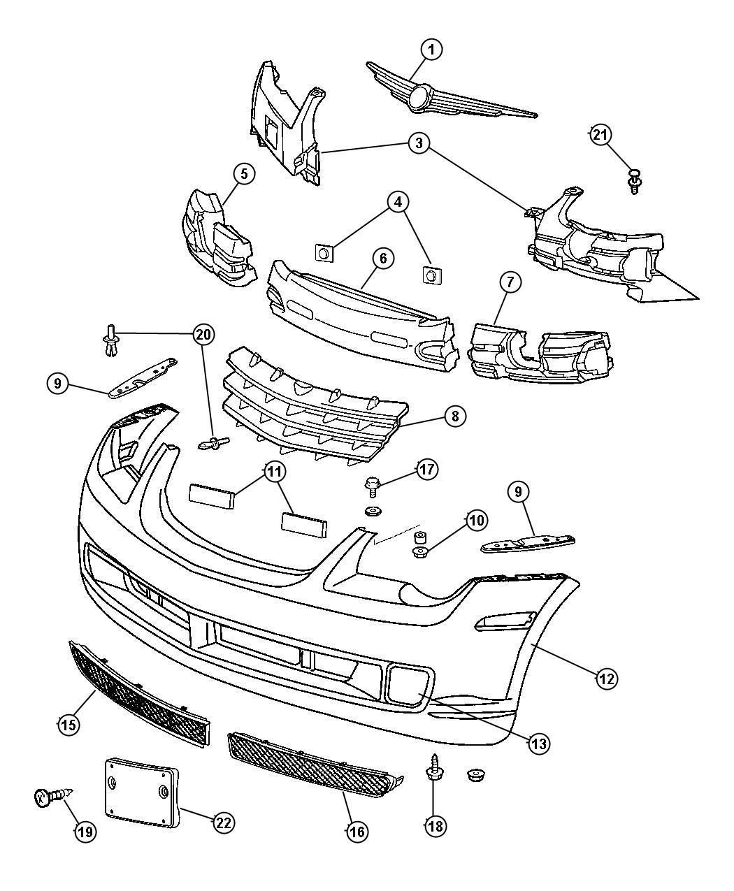 Dodge Journey Grille Radiator Dx9 Convertible