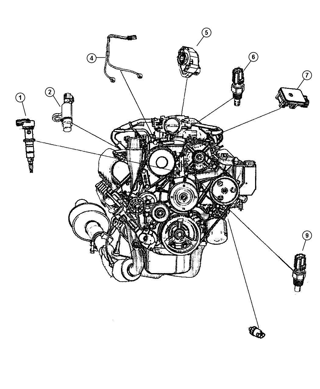 Dodge Ram Sensor Crankshaft Position Engine