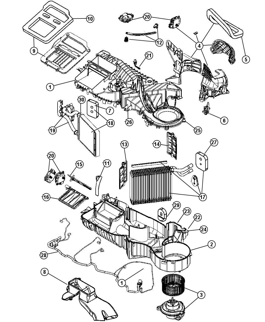 Dodge Dakota Evaporator Air Conditioning Heater
