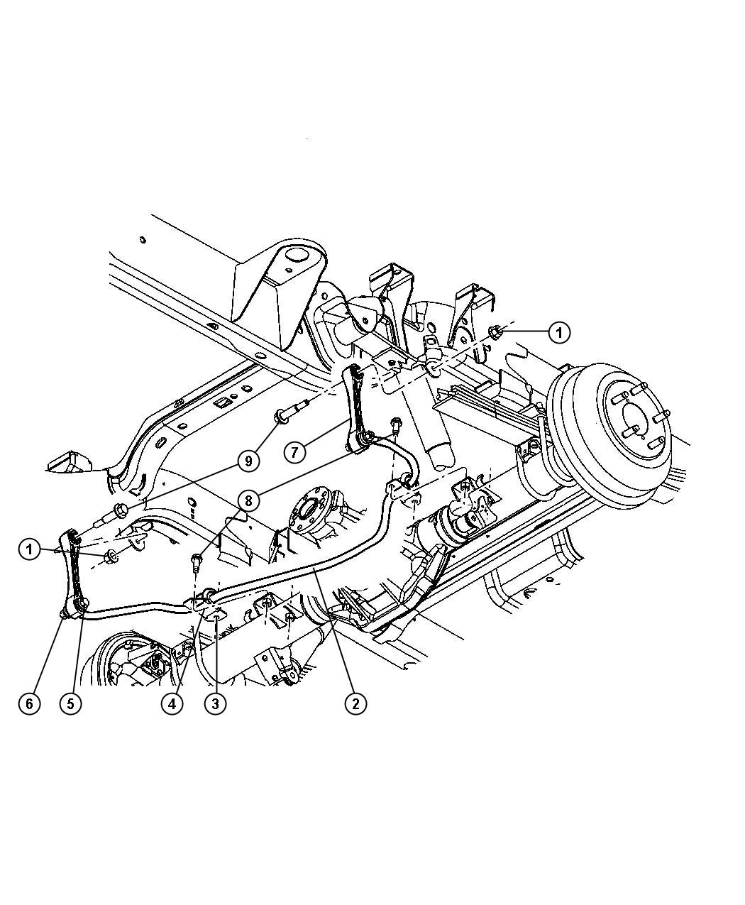 Dodge Dakota Bar Rear Sway Stabilizer Delete