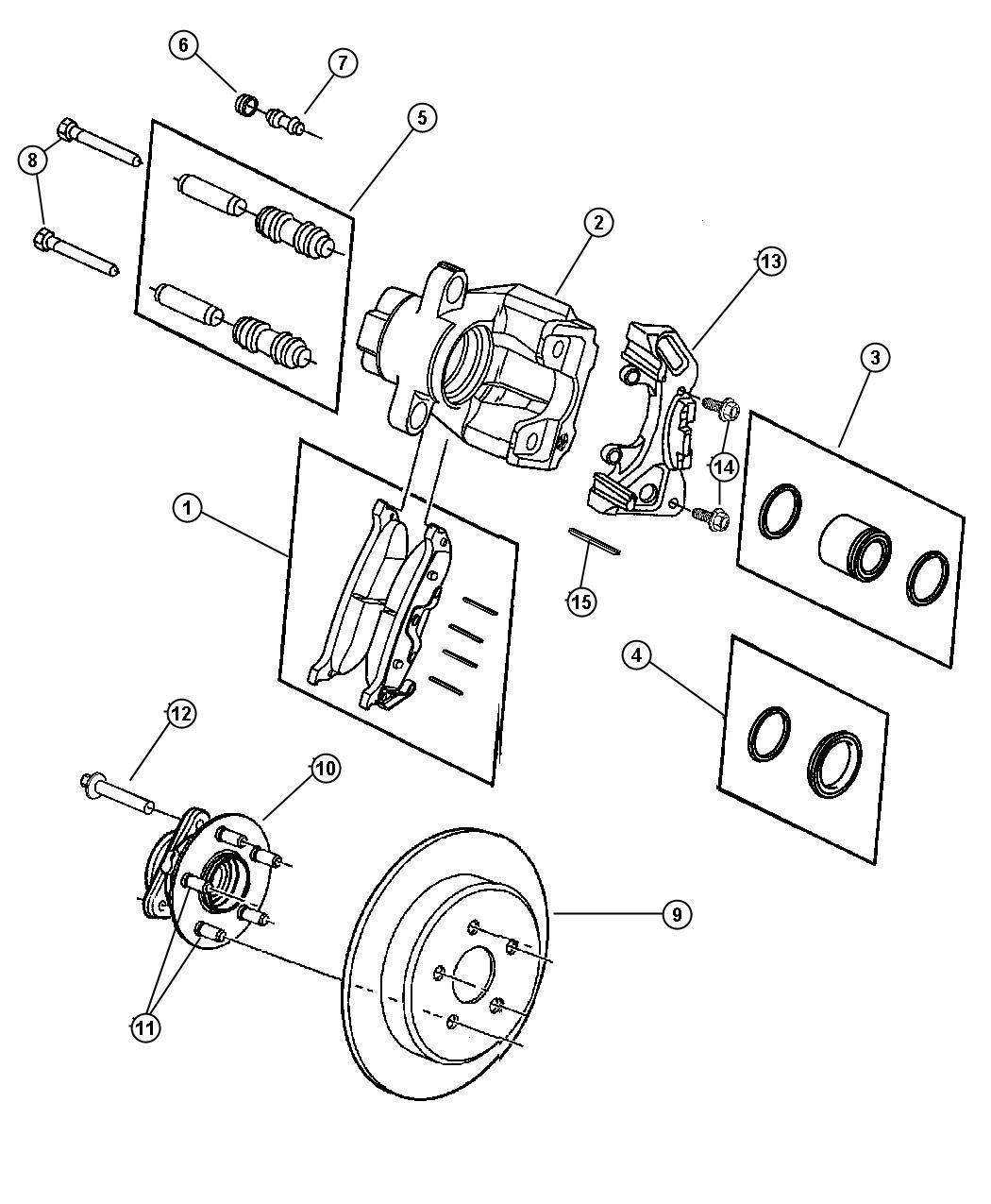Chrysler Pacifica Rotor Brake Brakes Suspension