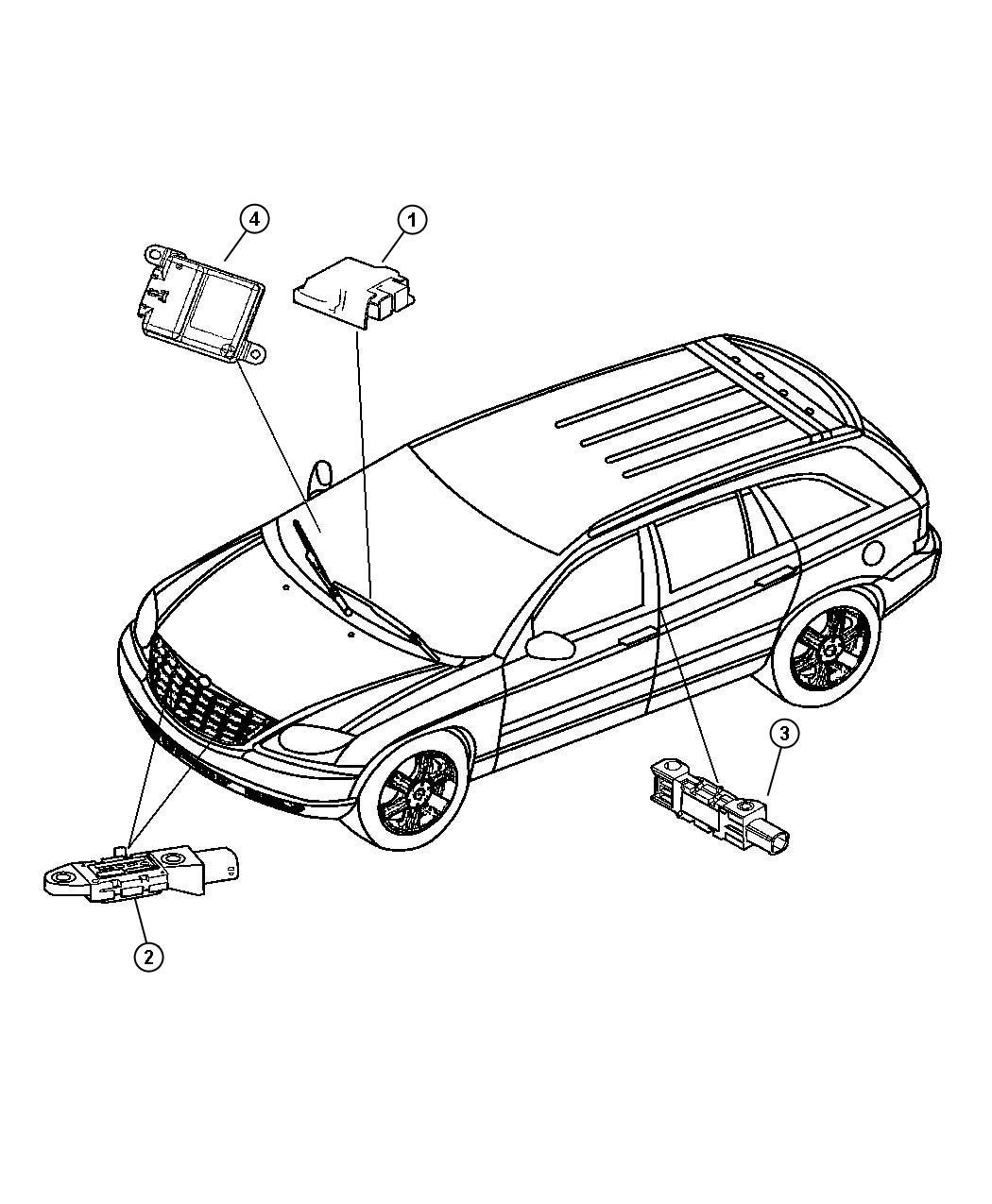 Chrysler Pacifica Module Occupant Restraint Supp