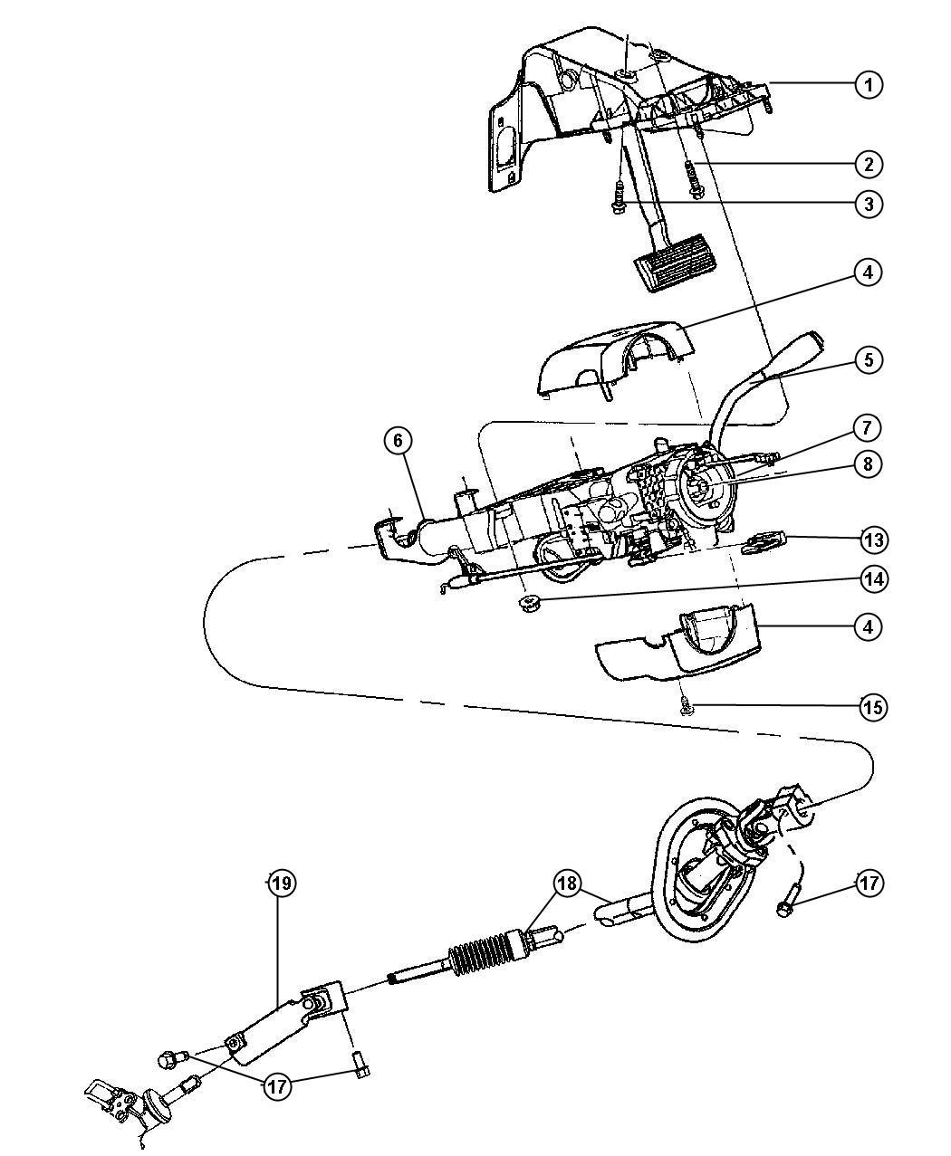 Dodge Ram Shaft Shaft Kit Intermediate Steering