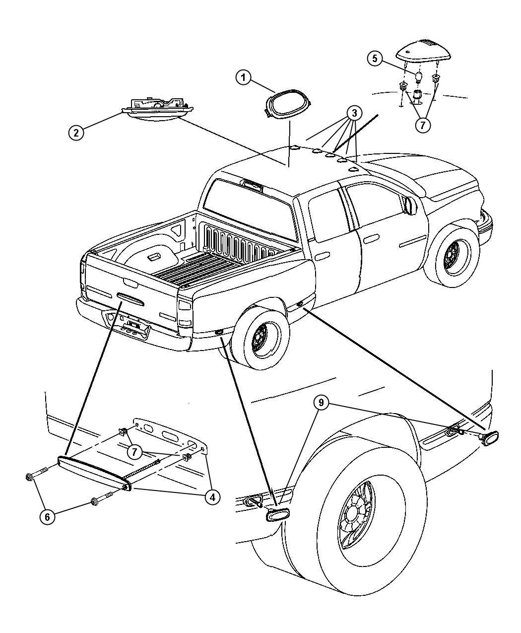 Dodge Ram Lamp Dome Trim All Trim Codes Color No Description Available