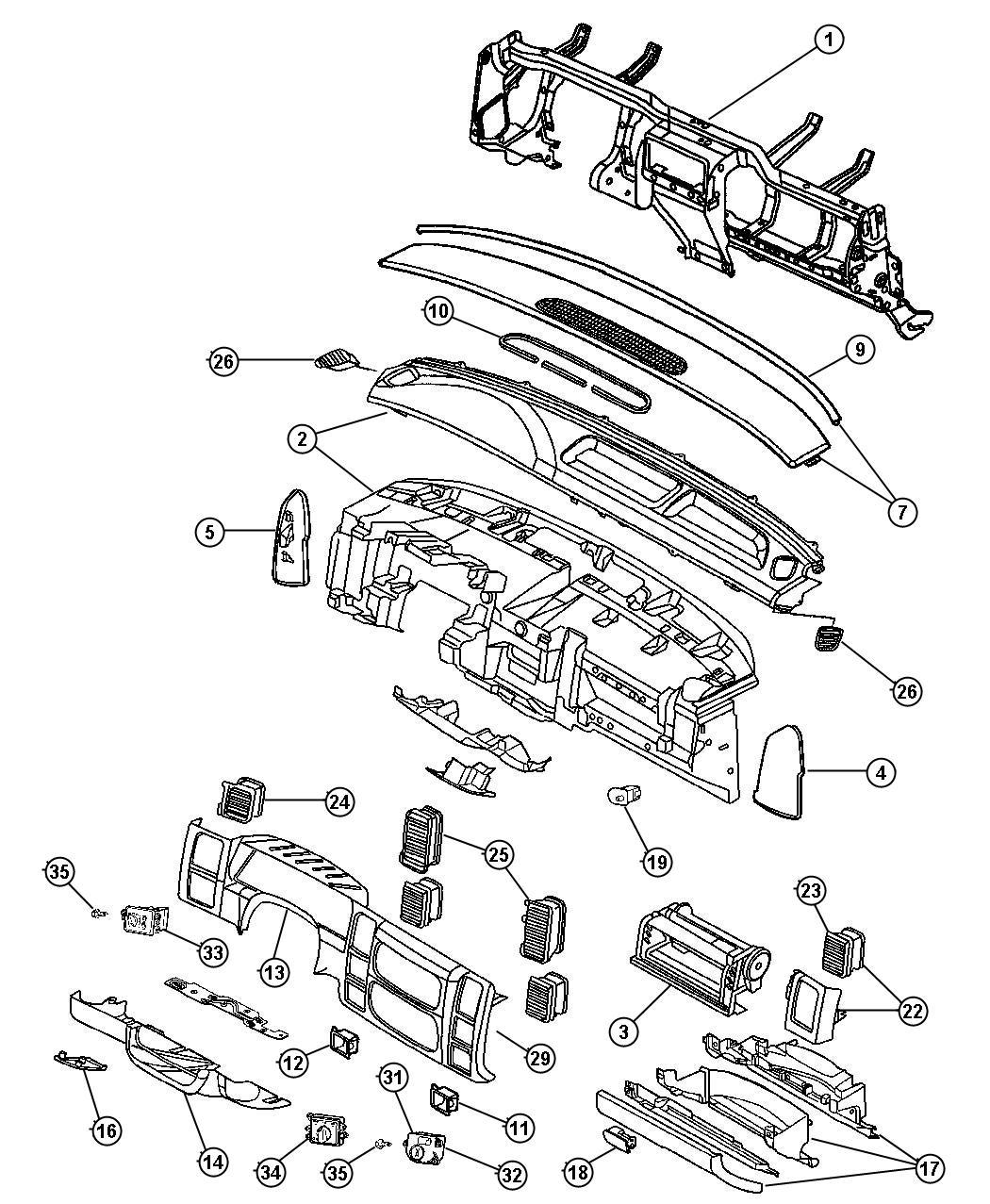 Dodge Dakota Handle Parking Brake J3 Trim All