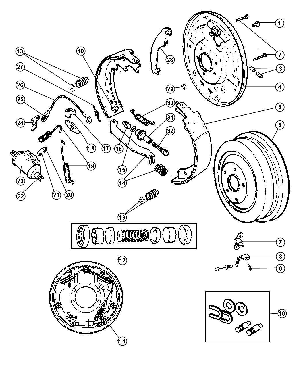 Dodge Dakota Plate Brake Backing Right Brakes