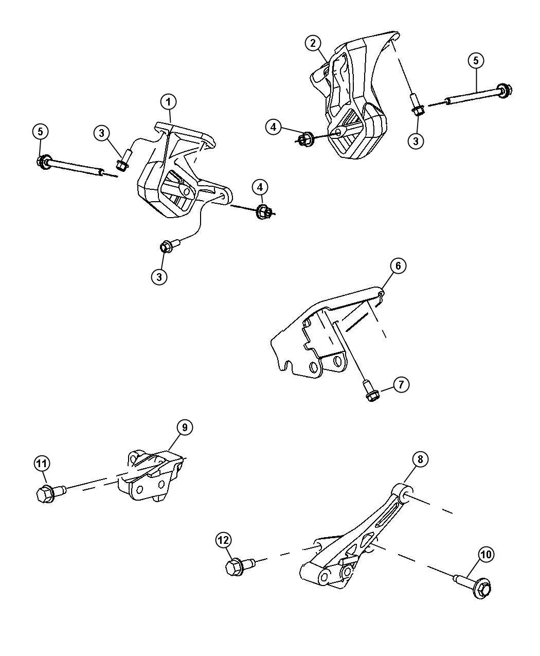 Dodge Dakota Bracket Strut Cylinder Block To Axle