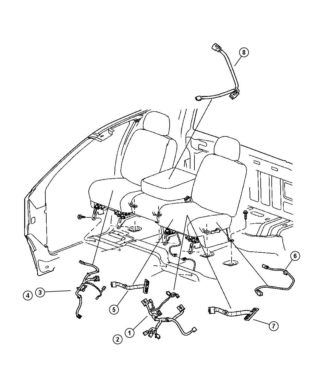 Dodge Ram Wiring Right Right Seat Switch