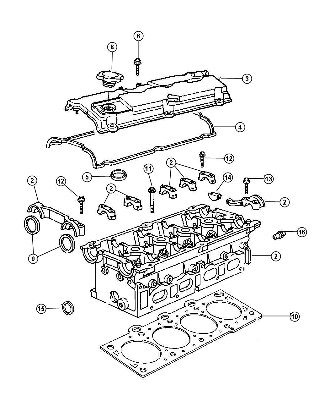 Dodge Express Gasket Cylinder Head Cover Valve Cover