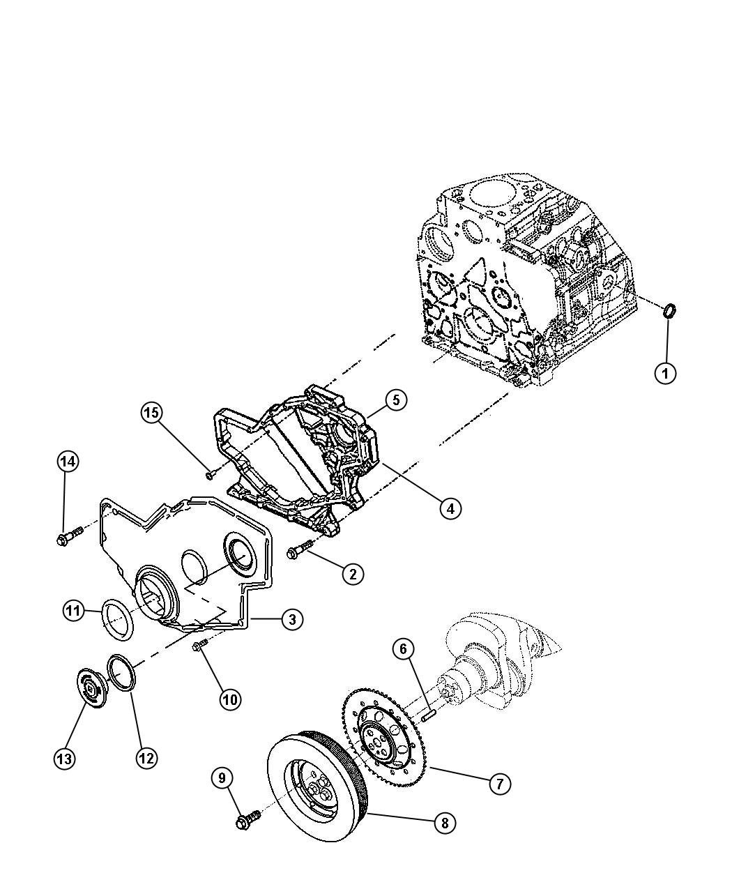 Dodge Ram Damper Crankshaft Emissions
