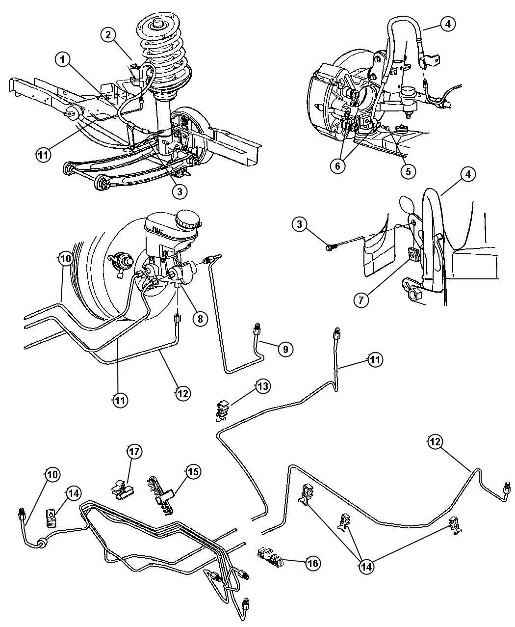 Dodge Charger Valve Proportioning Brakes Front