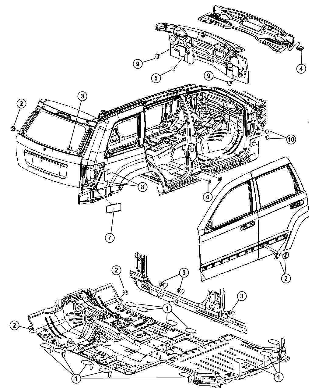 Jeep Plug Body 1 00 Diameter 25 Mm Front Floor Pan