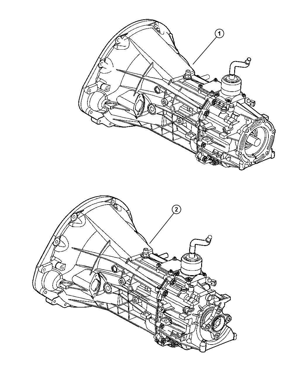 Dodge Dakota Trans 6 Speed 4wd Transmission
