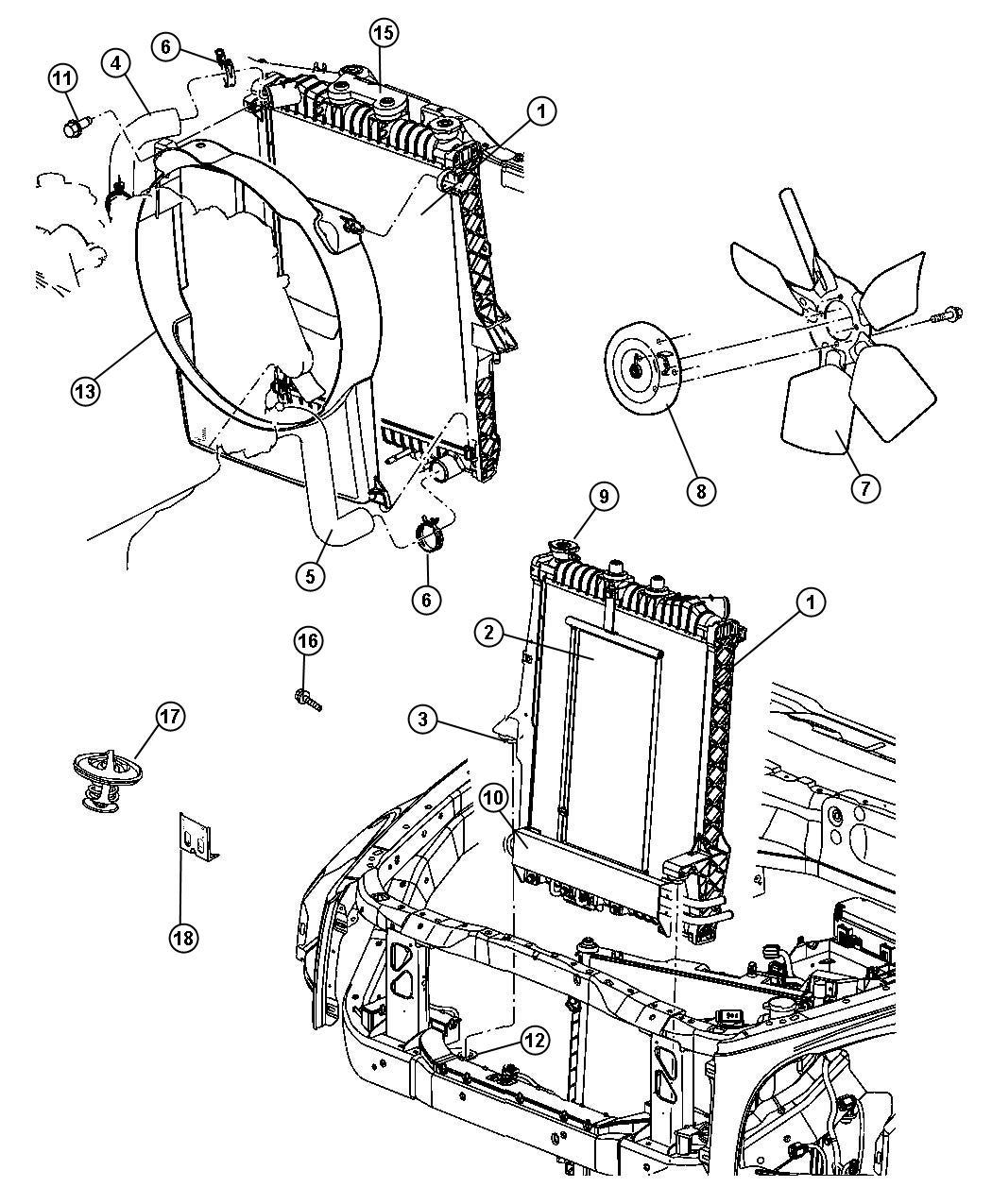 Dodge Durango Hose Radiator Inlet Lower Engine