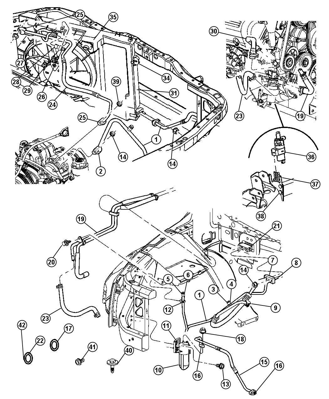 Chrysler Aspen Drier Air Conditioning Filter Heater