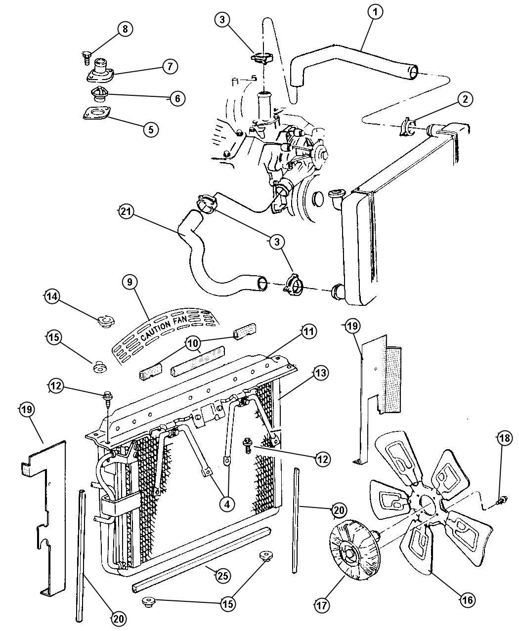 Dodge Ram Hose Radiator Inlet Radiator Inlet