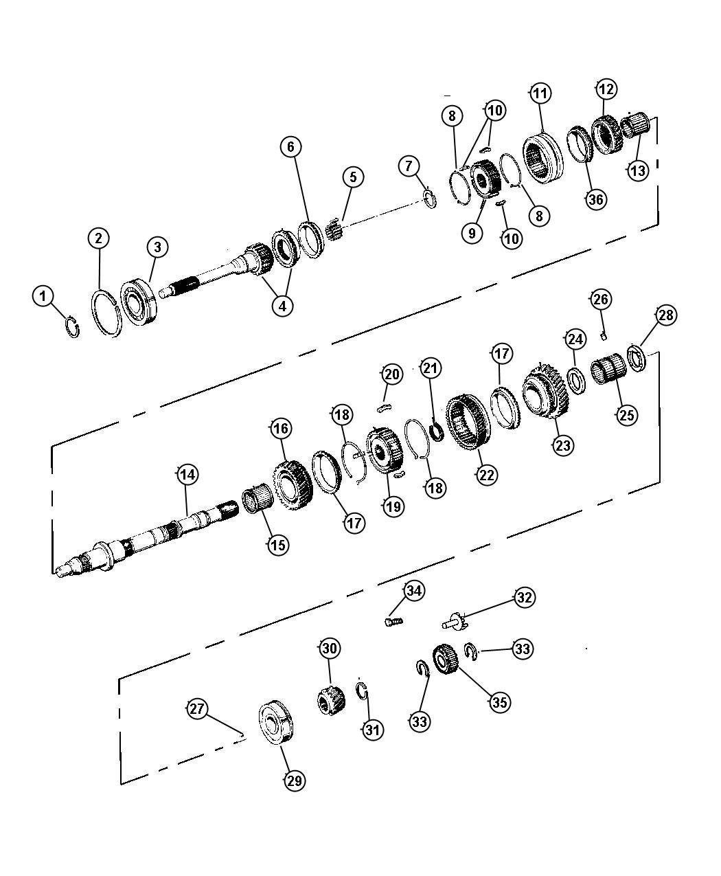 Dodge Dakota Input Shaft Transmission