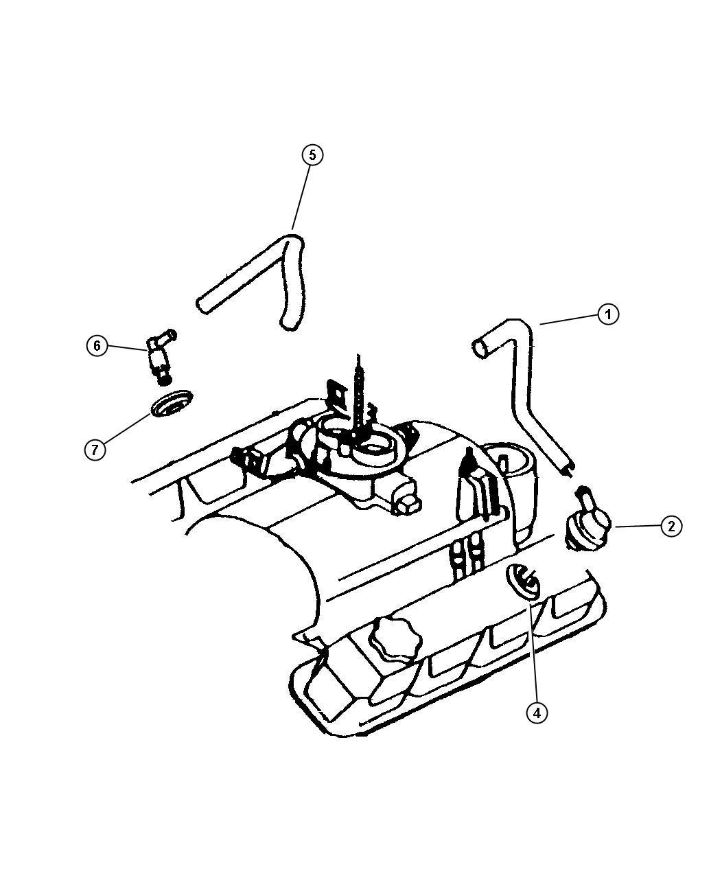 Dodge Dakota Valve Crankcase Vent Valve Pcv