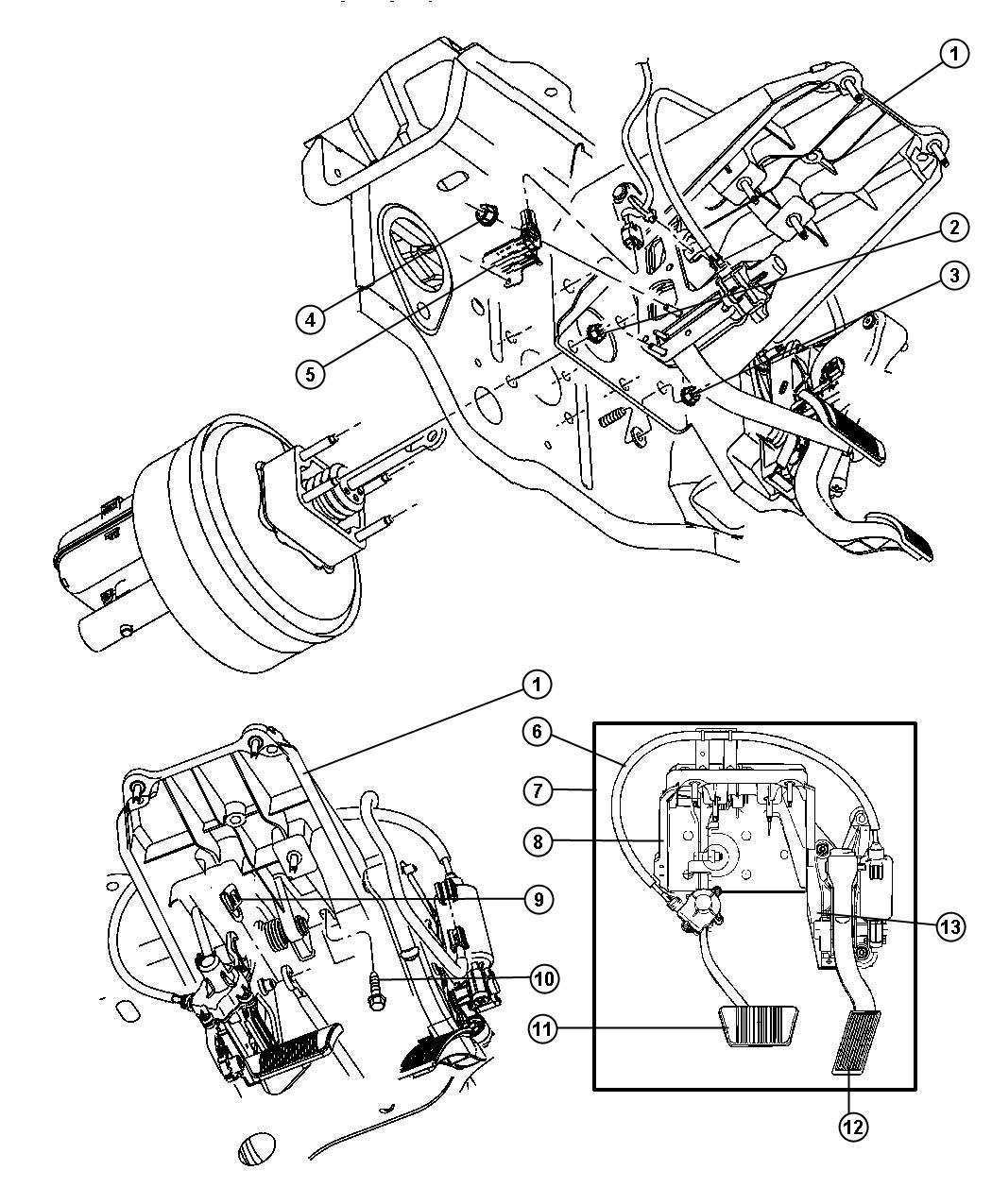 Dodge Durango Pedal Brake And Accelerator Engines