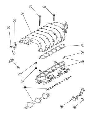 1996 Chrysler Cirrus Gasket Intake plenum Gasket, intake air surge tank  MD199282 | Mopar