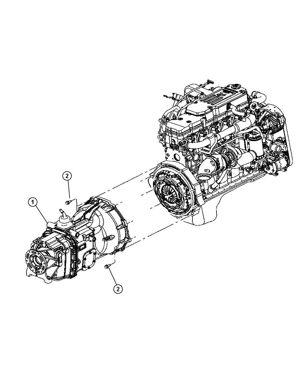 Dodge Challenger Transmission 6 Speed Assembly Stamp
