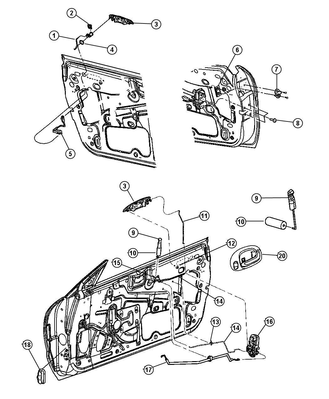 Chrysler Sebring Handle Inside Remote Control Left L2