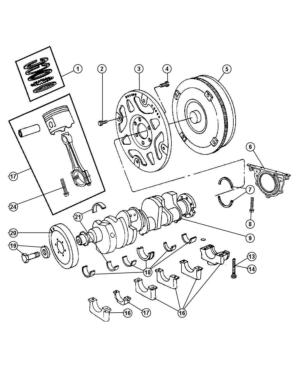 Dodge Ram Crankshaft Engine Hemi Torque