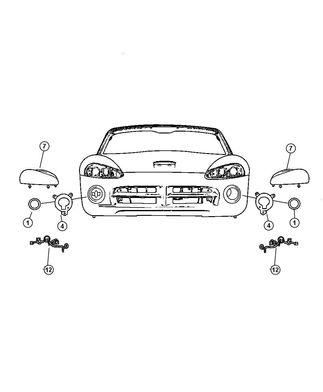 Dodge Viper Wiring Headlamp Jumper Up To 03 20 06