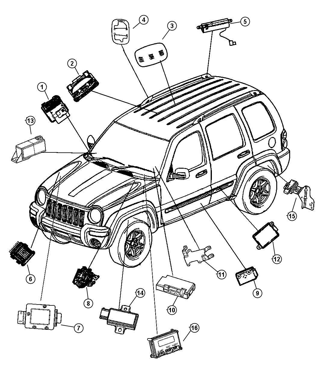 Jeep Liberty Antenna Fixed Lead Assembly