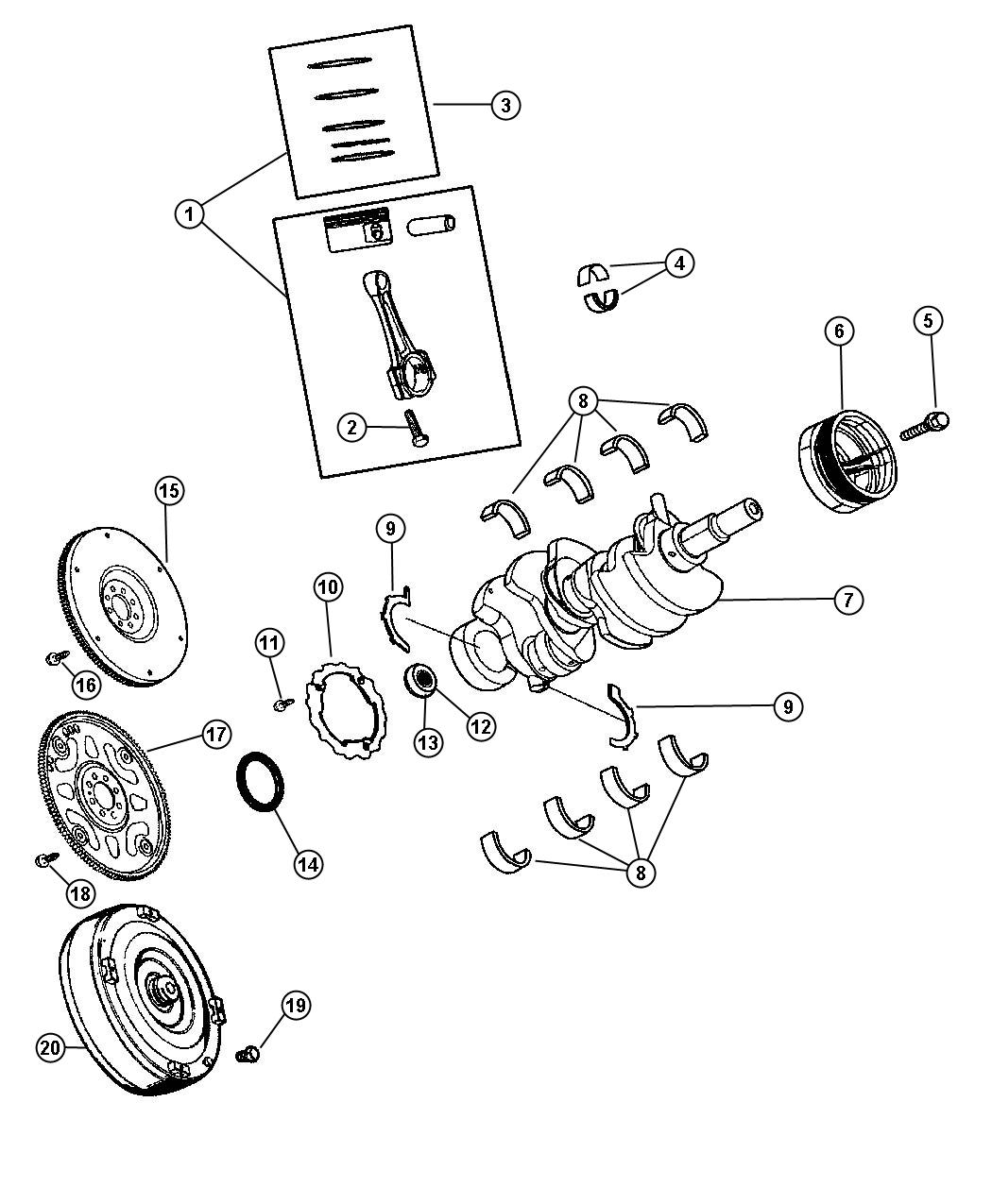 Jeep Liberty Piston After 04 04 05 Qty Of 6 Per Engine